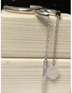 JUSTIN JEWELS Création artisanale collier argent motif ovoïde et sodalite
