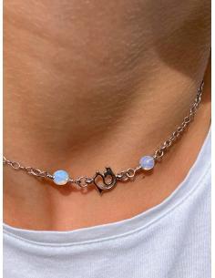 JUSTIN JEWELS Création artisanale Bracelet  argent aventurine et quartz rose