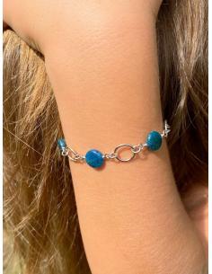JUSTIN JEWELS Création artisanale bracelet quartz rose et aventurine