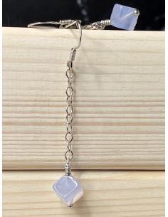 JUSTIN JEWELS Création artisanale Boucle d'oreille quartz rose
