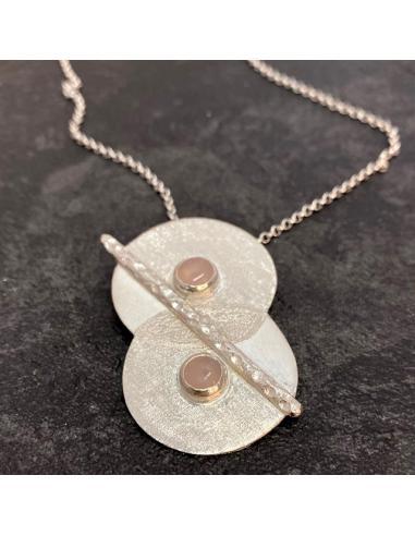 JUST'IN JEWELS Bracelet argent rhodié création artisanale avec citrine
