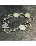 JUST'IN JEWELS bracelet argent et agate noire